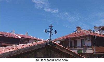 cross 11 - cross on the roof of the old church