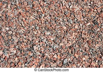 Red granite gravel