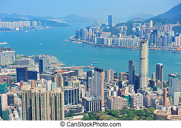 Hong Kong aerial view