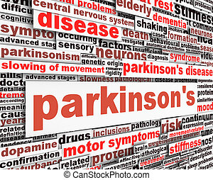 Parkinson's disease message design. Mental health symbol...