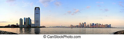 City skyline panorama - New York City Manhattan downtown...