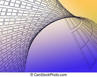 image a wall of a building - Abstract architectural 3D...