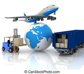 airliner with a globe and autoload - airliner with a globe...