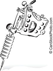 Tattoo - A simple sketch of a tattoo machine.