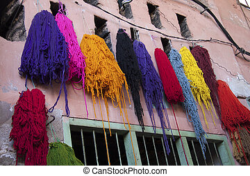 Dyed Wool, Marrakech, Morocco