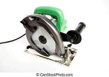A Circular saw - A isolated circular saw