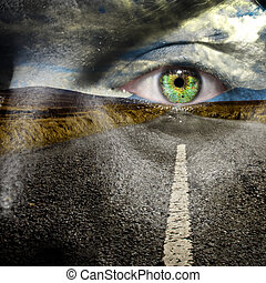 Keep your eye on the road for maximum road safety and reach...