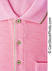 Close up new men's pink Polo T-shirt - Close up new men's...