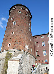 Tower Wawel Castle Krakow Poland - Wawel Castle tower Krakow...