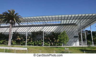 California Academy of Sciences - Pan over California Academy...