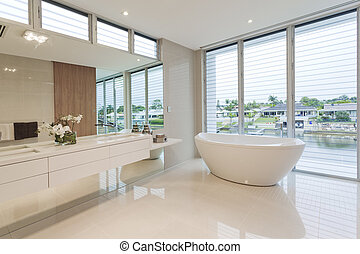 Luxury bathroom - Modern bathroom in luxury Australian house