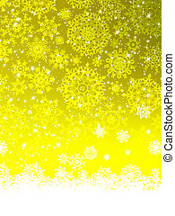 Abstract yellow winter with snowflakes. EPS 8 - Abstract...