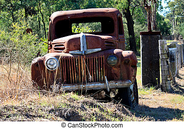 Abandoned rusty pick up truck - An old rusty pick up truck...