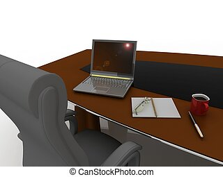 workplace at the table for negotiations