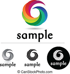 Color Swirl - Abstract corporate logo with colorful swirls...