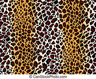 Vector. Seamless jaguar skin pattern