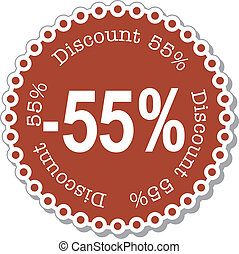Discount fifty five percent