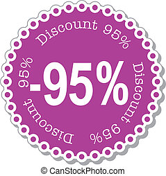Discount ninety five percent
