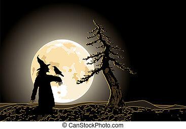vector / Halloween background / blue