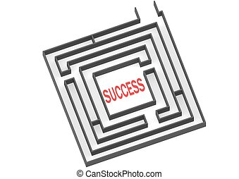 Way to success - Rendered artwork with white background