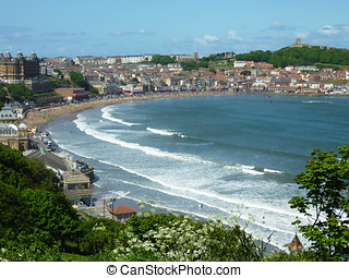 Scarborough seaside resort - View of the seaside resort of...