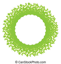 Foliage frame - Foliage ring with copy space