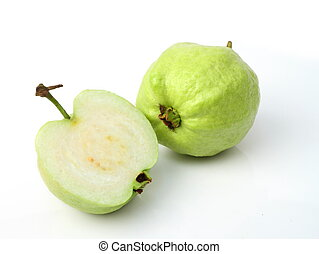 Guava fruit - Fresh of Guava fruit on white background