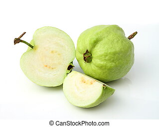 Guava fruit - Fresh of Guava fruit over white background.