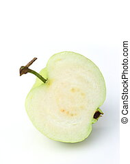 Guava fruit over white