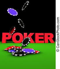 Poker Chips Fall