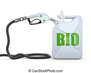 Biofuel Gas pump nozzle and jerrycan 3d