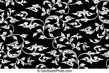 Vector. Seamless branch pattern