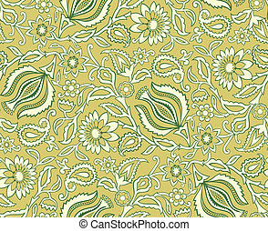 Vector. Seamless floral background