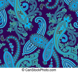 Vector. Seamless paisley background