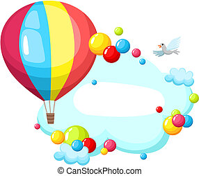 air balloon - vector illustration of a air balloon