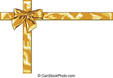 gold gift bow