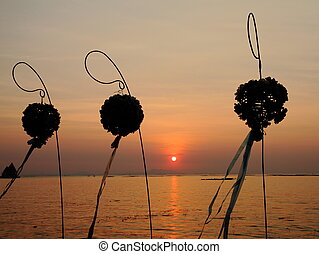 flower stand silhouette