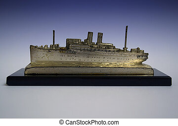 Old passenger steamship model about 1935