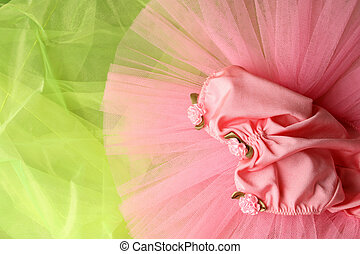 Ballet Costume - Pink Ballet Costume on a green background