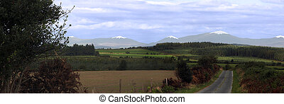 knockmealdown winter view - a scenic winters view of the...