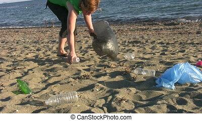 Pollution on beach