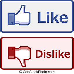 Like and dislike button
