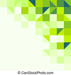 Green geometric background - Background structure from...