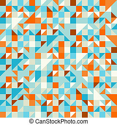 Turquoise Green and Blue pattern - Geometric seamless...