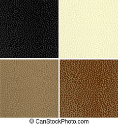 Set of leather textures