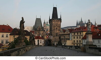 Prague, Czech Republic - Charles Bridge in Prague at Dawn