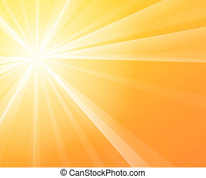 Sunny Sunshine - Yellow solar Sun light on a bright and warm...