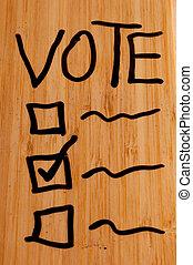 Vote on Dry Erase Board