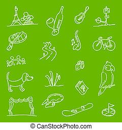 Hobby Symbols Illustration