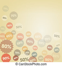Yellow Discount Background - Discount labels watermark on...
